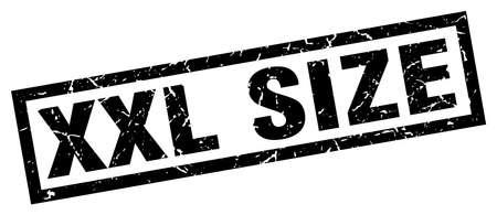 square grunge black xxl size stamp