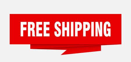 Ilustración de Free shipping sign. - Imagen libre de derechos