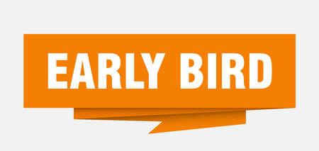 Illustration pour early bird sign. early bird paper origami speech bubble. early bird tag. early bird banner - image libre de droit