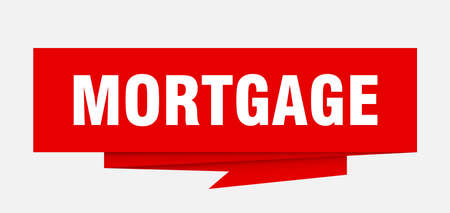 Mortgage Sign Mortgage Paper Origami Speech Bubble Mortgage Tag Mortgage Banner Royalty Free Vector Graphics