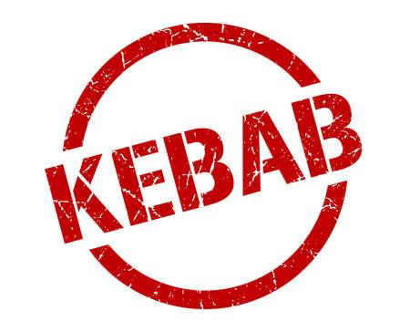 Illustration pour kebab red round stamp - image libre de droit