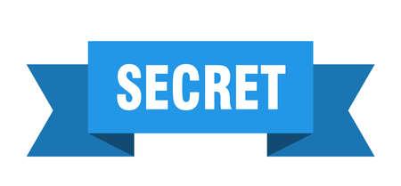 secret ribbon. secret isolated sign. secret banner