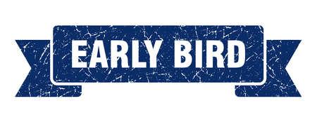 Illustration pour early bird grunge ribbon. early bird sign. early bird banner - image libre de droit