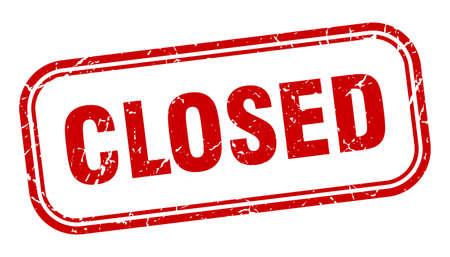 Ilustración de closed square grunge isolated stamp. closed sign - Imagen libre de derechos