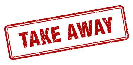 Illustration pour take away stamp. take away square grunge sign. take away - image libre de droit