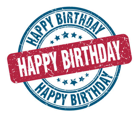 Illustration pour happy birthday stamp. happy birthday round grunge sign. happy birthday - image libre de droit