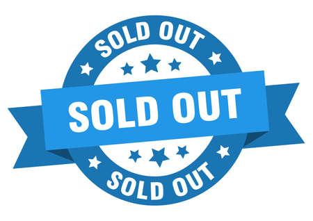Illustration pour sold out ribbon. sold out round blue sign. sold out - image libre de droit