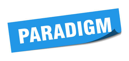 paradigm sticker. paradigm square sign. paradigm. peeler