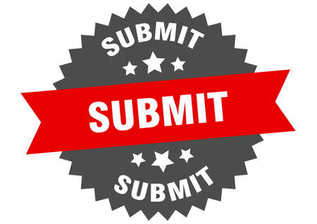 Illustration pour submit sign. submit circular band label. round submit sticker - image libre de droit