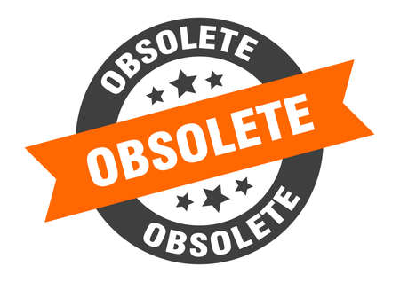 Illustration for obsolete sign. obsolete round ribbon sticker. obsolete tag - Royalty Free Image