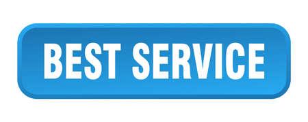 Illustration pour best service button. best service square 3d push button - image libre de droit