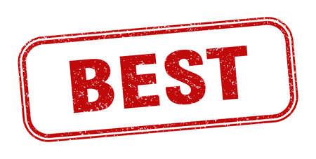 Illustration pour best stamp. best square grunge sign. label - image libre de droit