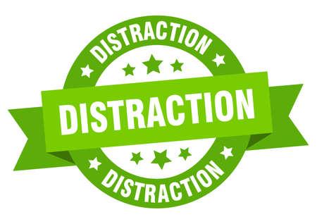 Illustration pour distraction round ribbon isolated label. distraction sign - image libre de droit