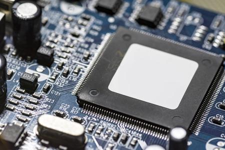 Photo pour microchips and circuits on a board - image libre de droit