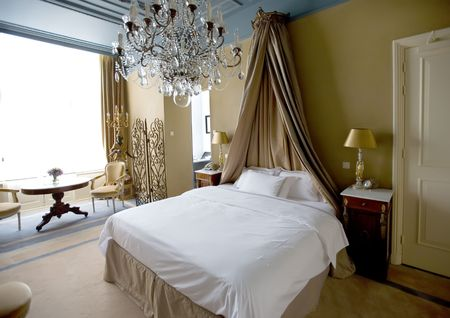 hotel bedroom in classic style interior