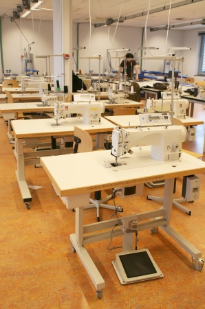 working place with sew machines