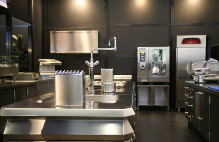 interior of new industrial kitchen