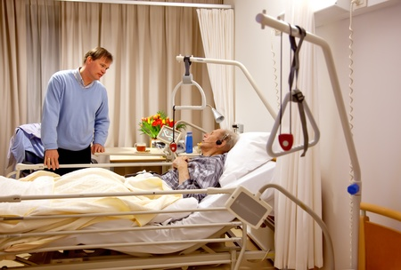 visitor of recovery room by hospital