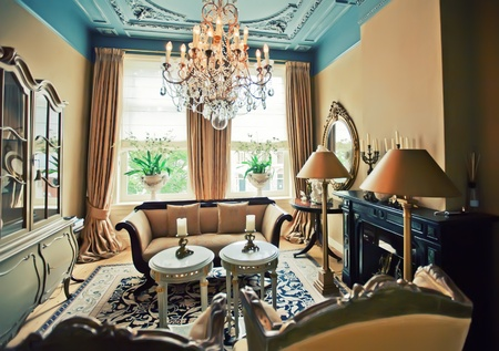 luxury hotel room in classic style