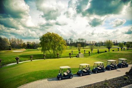 golf  landscape in spring day
