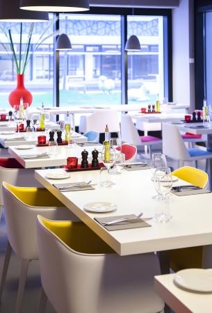coloful  details in restaurant interior