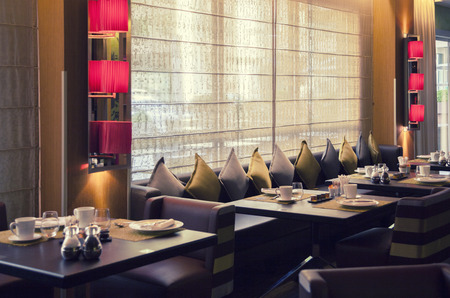 Photo for interior of new modern restaurant - Royalty Free Image