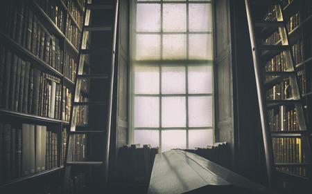 Photo pour detail of old classic library, Ireland - image libre de droit