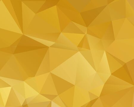 Illustration for Abstract Gold triangle background. Low poly style.Vector illustration. - Royalty Free Image