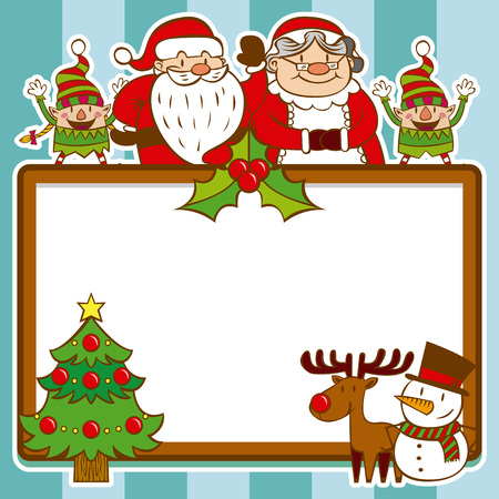 Christmas Background For Greetings Card