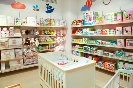COLOMBO, SRI LANKA - SEPTEMBER 25, 2018: Inside View of a Mothercare Retail Store. Mothercare is a international retailer for Prams, Pushchairs, Car Seats, Baby Clothes, Maternity Clothes, Nursery Furniture, Toys & Gifts.