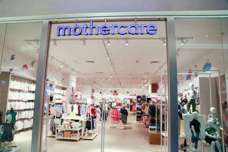 COLOMBO, SRI LANKA - SEPTEMBER 25, 2018: Mothercare logo Sign Board at  the Store front. Mothercare is a international retailer for Prams, Pushchairs, Car Seats, Baby Clothes, Maternity Clothes, Nursery Furniture, Toys & Gifts.