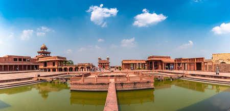 Agra,Utter Pradesh / India - October 13,2019. Panoramic view of Anoop Talab in Fatehpur Sikri, Uttar Pradesh, India.