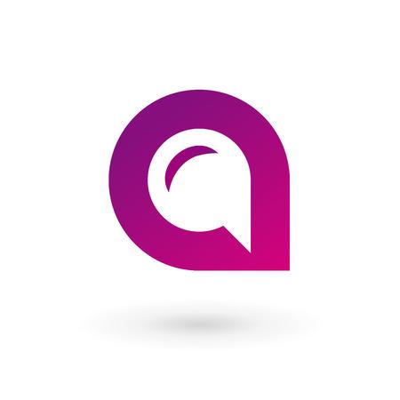 Illustration pour Letter A speech bubble logo icon design template elements. Vector color sign. - image libre de droit