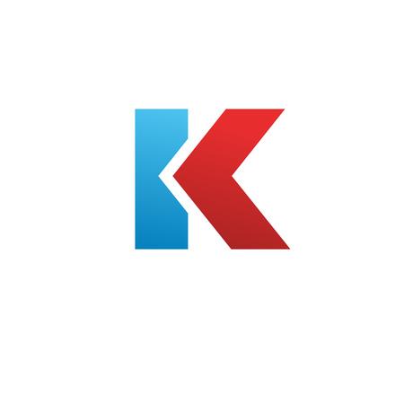 Letter K logo icon design template elements. Vector color sign.