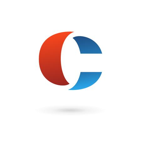 Letter C icon design template elements