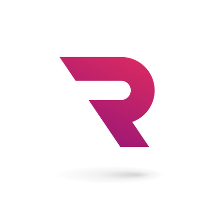 Letter R logo icon design template elements