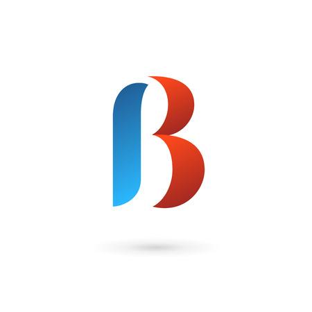 Letter B icon design template elements