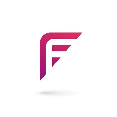 Letter F icon design template elements