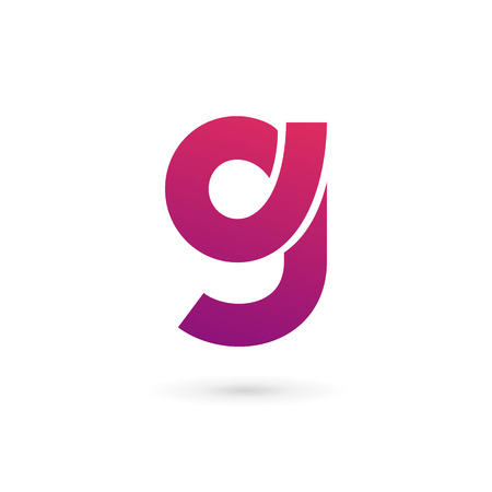 Letter G number 9 icon design template elements