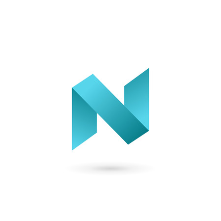 Letter N icon design template elements