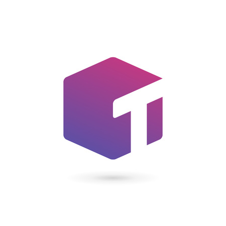 Letter T cube logo icon design template elements: Royalty