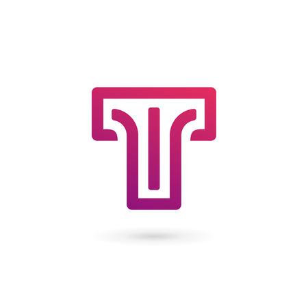 Letter T logo icon design template elements