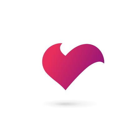 letter v heart symbol icon design template elements 写真素材