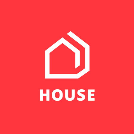 Illustration for Real estate house logo icon design template elements - Royalty Free Image
