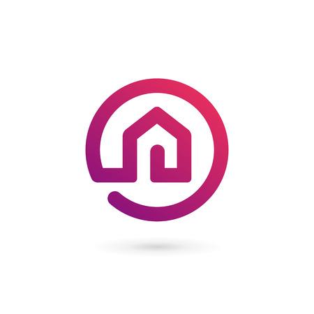Illustration pour Real estate house logo icon design template elements - image libre de droit