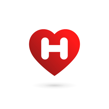 03700ed5800d Vector of Letter H heart logo icon - ID 94222968 - Royalty Free ...