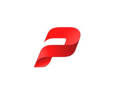 Ilustración de Letter P logo icon design template elements - Imagen libre de derechos