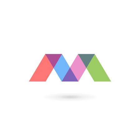 Ilustración de Letter M icon design template elements - Imagen libre de derechos