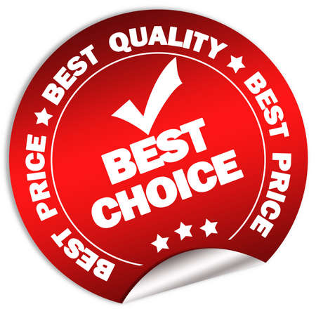 Best choice and price guarantee sticker