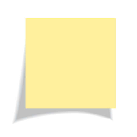 Blank yellow sticker illustration